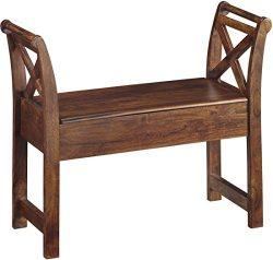 Ashley Furniture Signature Design – Abbonto Storage Accent Bench – Casual – Wa ...