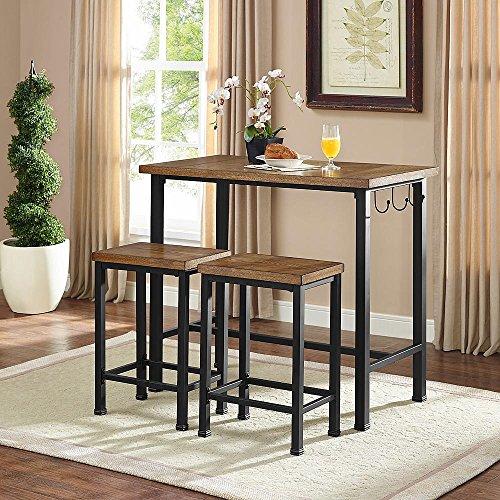 linon home decor products pub table bar set 2 stools