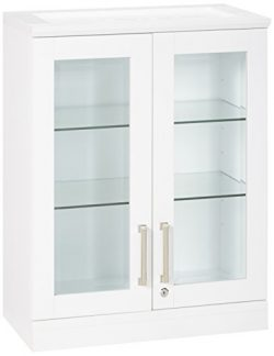 New Age Products Home Bar Short Wall Display Cabinet