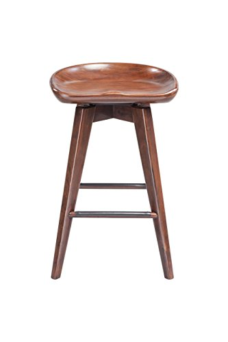 Boraam 54124 Bali Counter Height Swivel Stool 24 Inch Cappuccino Diningbee Diningbee