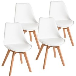 Harper&Bright Designs Eames Style Dining Chairs Mid Century Modern Dsw Armless Side Set of 4 ...