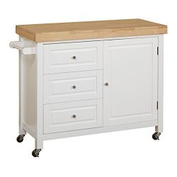 Target Marketing Systems Monterey Wood Top Kitchen Buffet Cabinet With Three Drawers and Cabinet ...