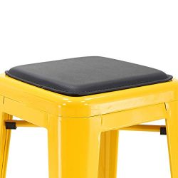 Porthos Home ZFC020A-So2 BLK Seat Cushion Metal Counter Bar Stool, Magnetic Easy Installation, F ...