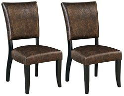 Ashley Furniture Signature Design – Sommerford Dining Side Chair – Set of 2 –  ...