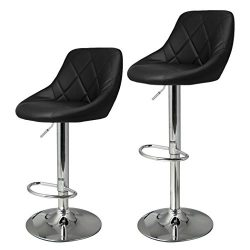 Meoket barstools with Backs Swivel Pub Chair Bar Stools Black Dresses
