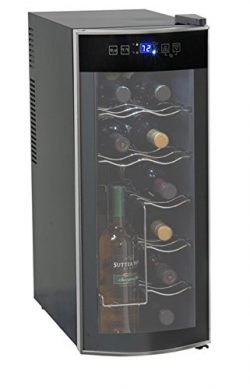 12-Bottle Wine Cooler, Soft-Touch Digital Display, Sophisticated Thermoelectric Cooling System,  ...