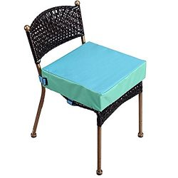Toddler Booster Seat for Dining Double Straps Washable Portable Thick Chair Increasing Cushion f ...