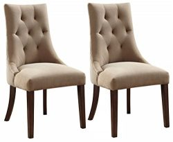 Ashley Furniture Signature Design – Mestler Dining Side Chair – Button-Tufted Seatba ...