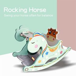 Gupamiga Rocking Horse Child Kids Portable and Rocking chair Baby Dining Table