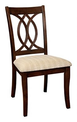 HOMES: Inside + Out ioHOMES Twirla Dining Chair (Set of 2), Brown Cherry