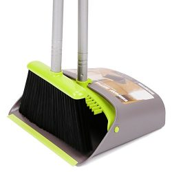Broom and Dustpan/Dust Pan & Broom Combo Set with Long Handle For Home Kitchen Room Office L ...