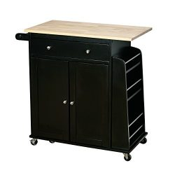 Target Marketing Systems Sonoma Collection Two-Toned Rolling Kitchen Cart with Drawer, Cabinet,  ...