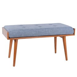 Porthos Home Robin Accent Bench, Blue
