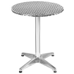Giantex Bar Height Pub Table Bistro Bar Table Stainless Steel Square Top Indoor-Outdoor Furnitur ...