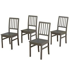 Target Marketing Systems 18418GRY4 Camden Dining Chair Set of 4, Gray