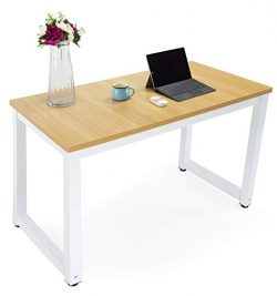 Computer Office Desk Easy Assembly Modern Simple Style Dining Table Study Writing Desk for Home  ...