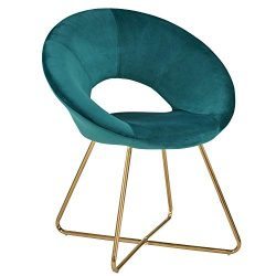 Dining Chair,Accent Chair with Armrest Duhome Design Stylish and The Modern Golden Metal Frame L ...