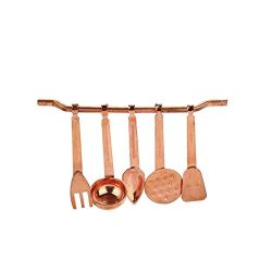 Gbell 6PC Mini Kitchen Room Copper Cooking Tool Set for 1/12 Miniature Dollhouse Accessories Toy ...