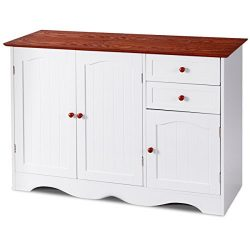 GJH One Sideboard Buffet Storage Cabinet Console Table Kitchen Home Furniture W/2 Drawers