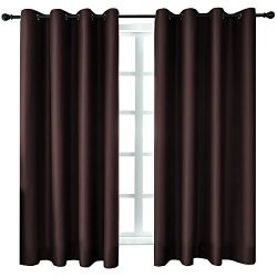 KEQIAOSUOCAI Blackout Window Curtains Room Darkening Blackout Curtain Set Thermal Insulated Grom ...