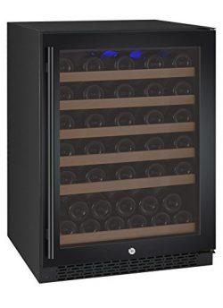 Allavino VSWR56-1BWRN 56 Bottle Single Zone Wine Refrigerator with Black Door & Right Hinge