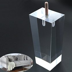 Sofa Legs Clear Furniture Feet Arcrylic 6 inch Bench Legs Modern Cabinet Cupboard Coffee Table L ...