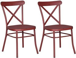 Ashley Furniture Signature Design – Minnona Dining Side Chair – Set of 2 – Cro ...