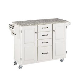 Home Styles 9100-1023 Create-a-Cart 9100 Series Cuisine Cart with Salt and Pepper Granite Top, W ...