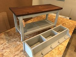 Hallway / Mud Room / Foyer Bench (36″) and Matching Increased Height Coat Rack/ Cubbies
