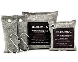 IE.HOME 100% All Natural Activated Bamboo Charcoal Air Purifying Deodorizer Bags 4 Pack Set | 3  ...
