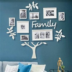 Picture Frame Set of Tree Shape on Wall Art Decoration Sticker in Family Living Room and Bedroom ...