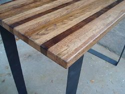 Wood Bar Table High Top Kitchen Table Pub Table Steel Legs Industrial Dining Table