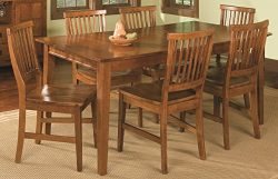 Home Styles 5180-319 Arts and Crafts 7-Piece Rectangular Dining Set, Cottage Oak Finish