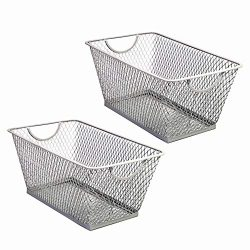 SLPR Office Desktop Organizer Wire Basket (Set of 2, Grey Violent) | Classroom Craft Room Kitche ...