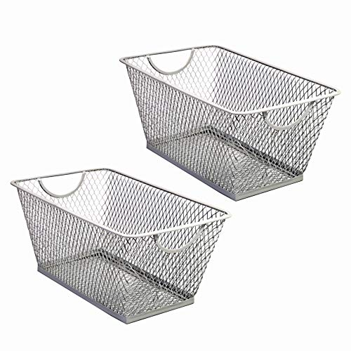 Slpr Office Desktop Organizer Wire Basket Set Of 2 Grey
