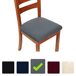 Homaxy Premium Jacquard Dinning Chair Seat Cushion Protectors, Spandex Stretch Dining Room Chair ...