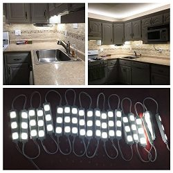 Keyola Full set 10ft 60leds white Under Cabinet Lights Closet Kitchen Counter LED light with Bri ...