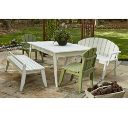 Uwharrie Chair Co P091-42-Tractor Red-Dist-Pine Plaza Dining Table, 69″, Tractor Red-Distr ...