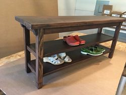 Hallway / Mud Room / Foyer Bench 36″ With Two Shoe Shelves