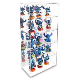 Ikee Design Acrylic 5 Shelves Mirror Backed Collection Case Display Wall Mounted/Free Standing E ...