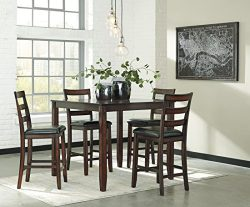Signature Design by Ashley D385-223 Coviar Dining Table Set, Brown