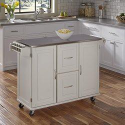Home Styles 4514-95 Patriot Kitchen Cart, White