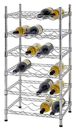 Muscle Rack WBS181435 24-Bottle Chrome Wine Rack, 18″ by 14″ by 35″, 35″ ...