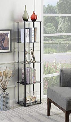 Convenience Concepts 157010BL Designs2Go Glass Tower, Black