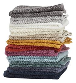 Washcloths, 12 Pack, 100% Extra Soft Ring Spun Cotton, Size 13″ X 13″, Soft and Abso ...