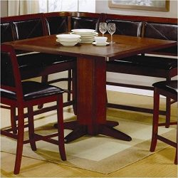 Coaster 101791-CO Counter Height Dining Table Dark, Dark Brown Finish