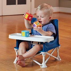 hiccapop Omniboost Travel Booster Seat with Tray for Baby | Folding Portable High Chair for Eati ...