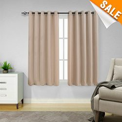 Waffle Weave Window Bathroom Curtains Kitchen Curtains Water-proof Eyelet Window Curtain Set for ...