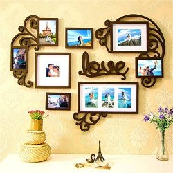 Picture Frame Set of Love Heart on Wall Art Decoration Sticker in Family Living Room and Bedroom ...