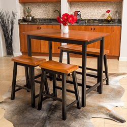 Denise Austin Home Toluca 4-piece Wood Dining Set
